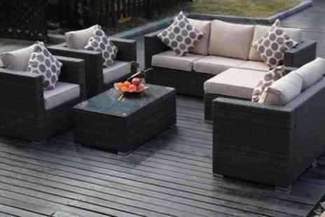 Groupon Goods Global GmbH - Vancouver Five or Eight Seater Rattan Garden Furniture Set With Free Delivery - Save 0%