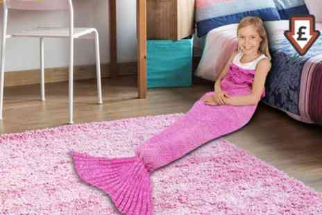 Groupon Goods Global GmbH - One or Two Kids Mermaid Tail Blankets - Save 73%