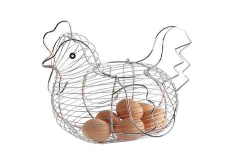 Groupon Goods Global GmbH - One or Two Chicken Shaped Egg Storage Baskets - Save 65%