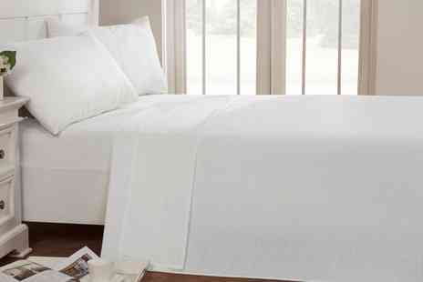 Groupon Goods Global GmbH - Plain Dyed Soft Touch Fitted Sheets or Pillow Cases - Save 33%