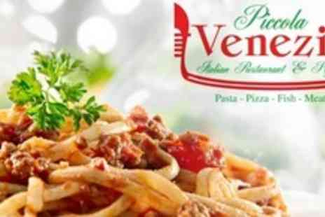 Piccola Venezia - Three Course Pizza or Pasta Meal For Two - Save 60%