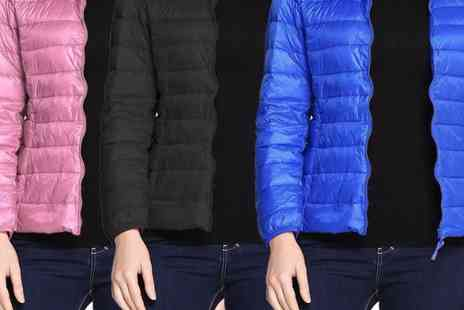 Boni Caro - Packable ultra light puffer hooded jacket - Save 77%