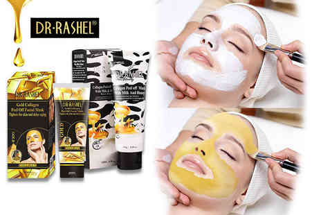 Forever Cosmetics - Peel off collagen face mask select either milk and honey or gold - Save 80%