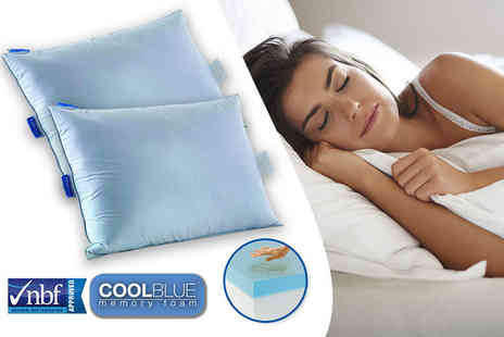 Trusleep - CoolBlue memory foam pillow - Save 66%