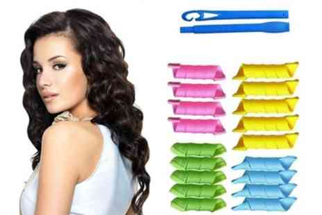 Groupon Goods Global GmbH - Jazooli 18 Piece Hair Curler Kit - Save 29%
