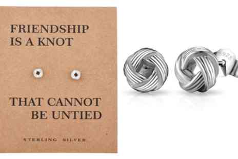 Groupon Goods Global GmbH - Philip Jones Sterling Silver Quote Earrings - Save 80%