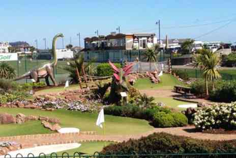 Jurassic Adventure Golf - 12 Hole Mini Golf Game with Slushies for Up to Four - Save 51%