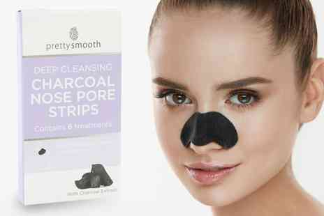 Groupon Goods Global GmbH - 6, 12 or 24 Charcoal Nose Pore Cleansing Strips - Save 63%