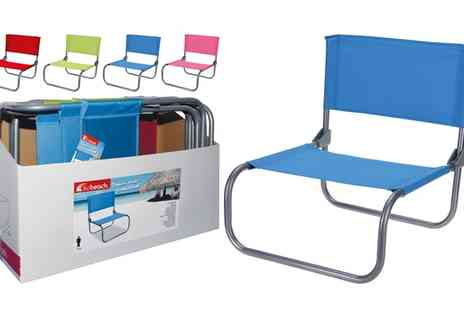 Groupon Goods Global GmbH - One, Two or Four Folding Beach Chairs - Save 55%