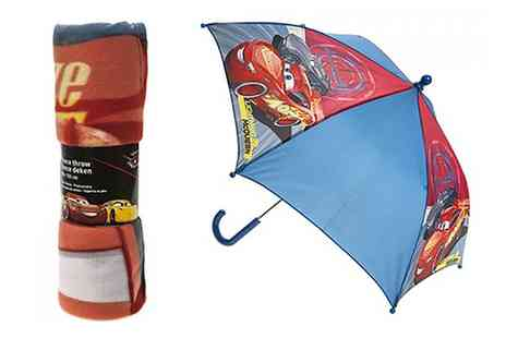 Groupon Goods Global GmbH - Cars 3 Umbrella, Blanket or Both - Save 0%