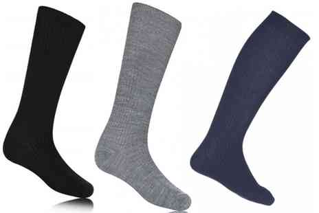 Groupon Goods Global GmbH - Six Pairs of Knee High Girls Socks - Save 0%