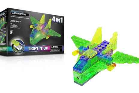 Groupon Goods Global GmbH - Laser Pegs Four in One Aircraft and Helicopter Light Up Construction Kits - Save 43%