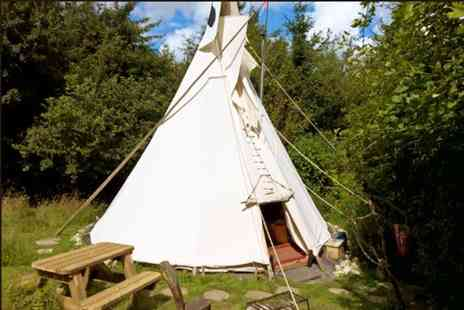 Lark Hill Tipis and Yurts - Two night Welsh countryside glamping stay for two in a Tipi or Lavvu or upgrade to Yurt or Ger - Save 29%
