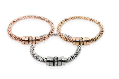 Wiseloads Software - Rhodium plated links bracelet choose gold, rose gold or silver - Save 83%