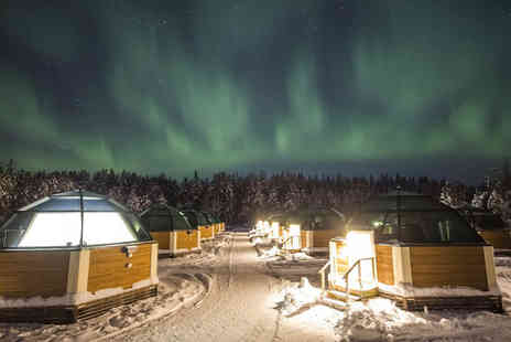 Crystal Travel - Two or three night Lapland Snow Hotel and Glass Igloo stay with breakfast and flights - Save 59%