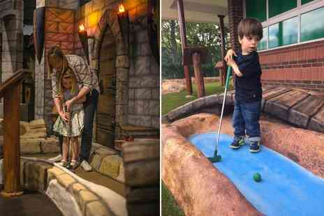 Namco Funscape - 18 hole medieval adventure golf for a family of four - Save 50%