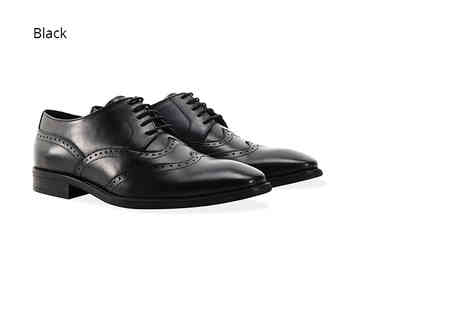 Shoeprimo - Pair of mens double wing tipped brogues choose black, brown or tan - Save 82%