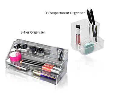 Shop Monk - Three compartment makeup and jewellery organiser - Save 64%