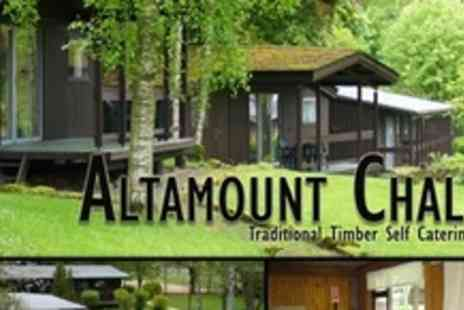 Altamount Country House Hotel - In Perthshire Three Night Log Cabin Stay For Six - Save 59%