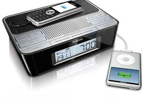 Philips UK -  Digital Alarm Clock and Universal Mobile Phone Charger - Save 55%