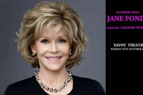 Jane Fonda - One ticket to see Jane Fonda hosted by Graham Norton Band A, B or C Ticket on 15 October - Save 8%