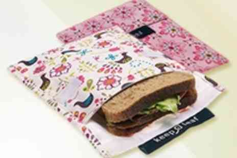 Wild by Nature - Two Keep Leaf reusable sandwich bags - Save 58%