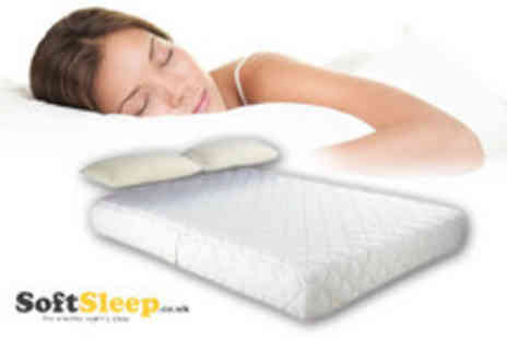 Soft Sleep - Single memory foam mattress and pillows - Save 70%