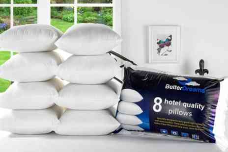 Groupon Goods Global GmbH - Eight Better Dreams Non allergenic Fibre Filled Pillows - Save 71%