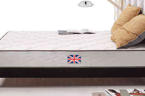 karpedeal - Single Visco Luxury Memory Crystal Mattress - Save 89%