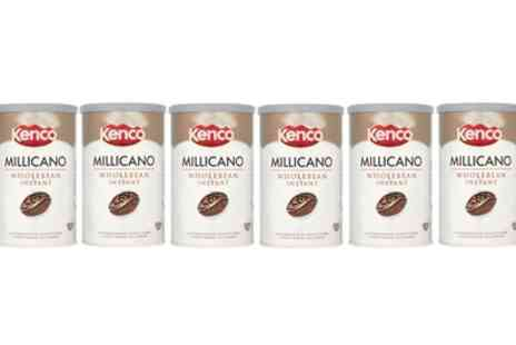 Groupon Goods Global GmbH - Six Pack Kenco Millicano Wholebean Instant Coffee 100g - Save 20%