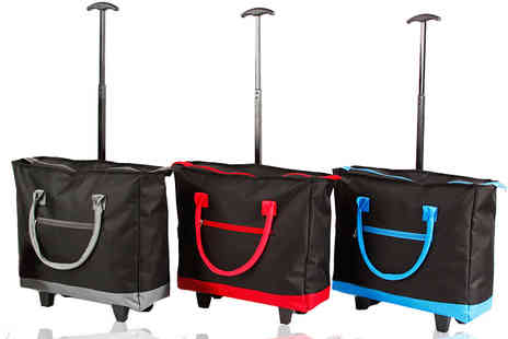 Groundlevel - Multi purpose XL two wheel shopping trolley choose red, blue or grey - Save 76%