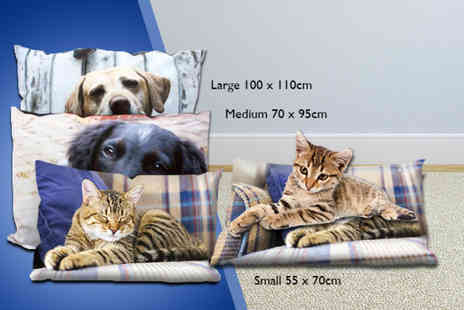 Great Photo Gifts - Small or medium personalised photo pet bed - Save 50%