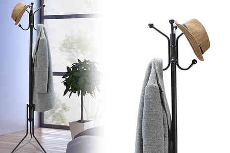 Vinsani - Free standing eight hook clothes, hat and umbrella rack - Save 57%