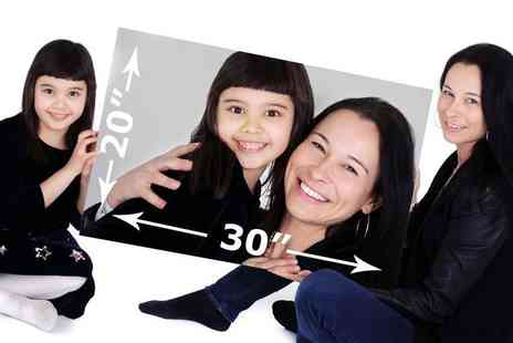 "The Picture Company - Family photoshoot including a 20"" x 30"" canvas - Save 92%"