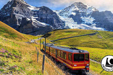 Crystal Travel - Three Night 4 Star Hotel Stay With Flights Plus Swiss Alps Rail Tour - Save 27%