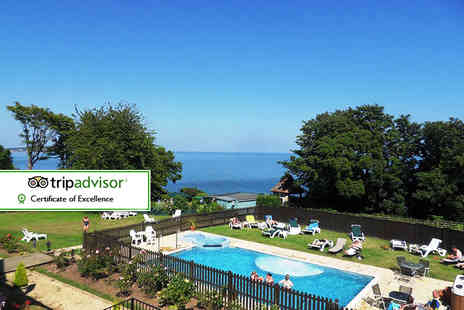 Luccombe Manor - Two night Isle of Wight break for two with a three course dinner, leisure access, breakfast and return ferry - Save 55%