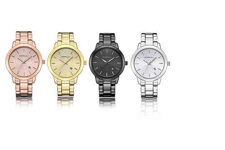 Jewleo - Unisex stainless steel watch choose from four colours - Save 87%