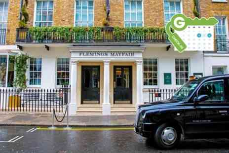 Flemings Mayfair Hotel - Classic or Deluxe Double Room for Two with Bottle of Wine - Save 43%