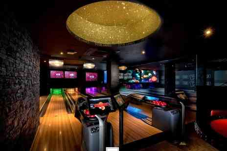 M18 Lanes - Two games of bowling, cocktails and nachos for two - Save 56%