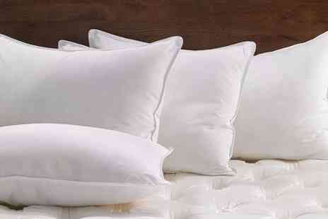Diana Cowpe - Four duck feather hotel quality pillows - Save 85%