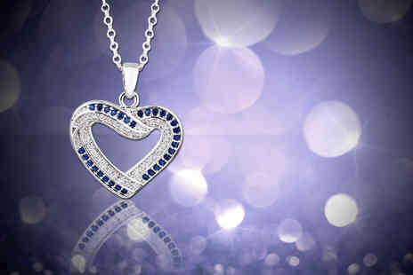 Evoked Design - Crystal open heart necklace - Save 88%