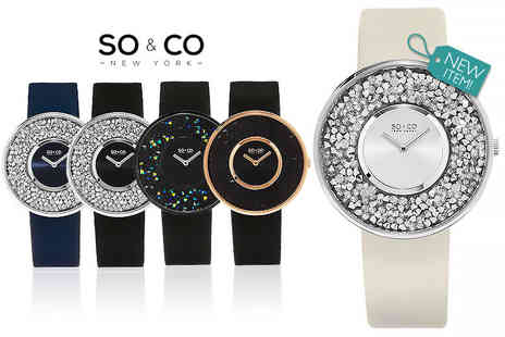 Y Fashion - Ladies luxury SO&CO crystal filled watch - Save 84%
