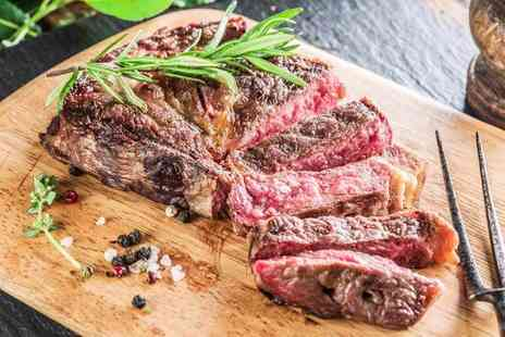 Ingram Wynd - Rib eye steak meal for two with chips or potatoes plus a bottle of wine to share - Save 52%