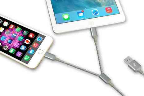 Groupon Goods Global GmbH - Two in One Cables for iPhone One or Two - Save 80%