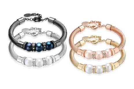 Neverland Sales - One or Two Lithe Freshwater Pearl Cable Bracelets With Free Delivery - Save 82%
