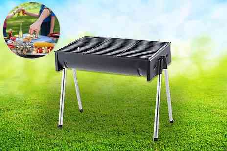 Funky Buys - Half drum folding portable barbecue - Save 60%