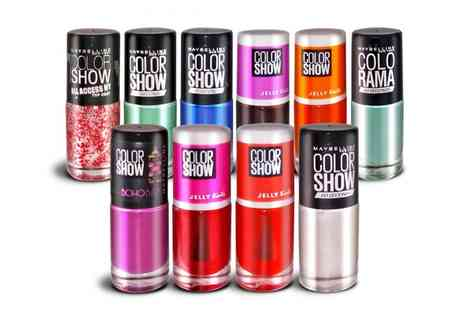 Groupon Goods Global GmbH - 10 Maybelline Color Show Nail Polishes - Save 82%