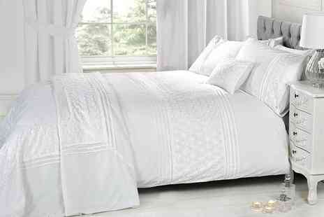 Groupon Goods Global GmbH - Embroidered Duvet Cover Sets or Cushions - Save 40%