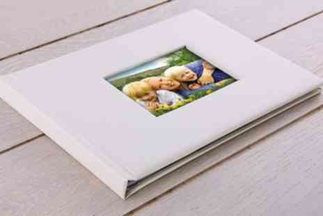 Printerpix - One or Two 20, 40 or 60 Page A4 Leather Lorenzo Window Photobook - Save 75%