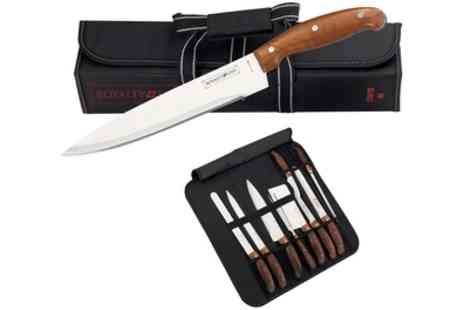 Groupon Goods Global GmbH - Nine Piece Knife Set in a Tubular Case - Save 85%
